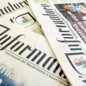 Mendrisio, 11 aprile 2006 - Tipografia Stucchi SA di Mendrisio e il giornale l'Informatore (FOTO FIORENZO MAFFI - Immagine digitale)